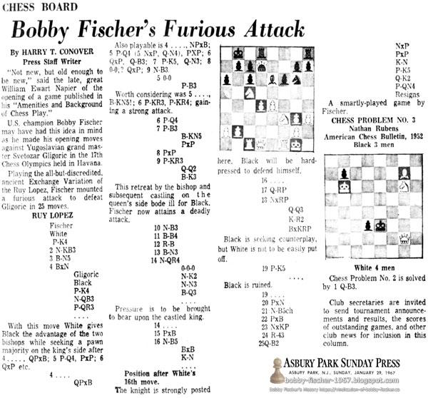 Bobby Fischer's Furious Attack