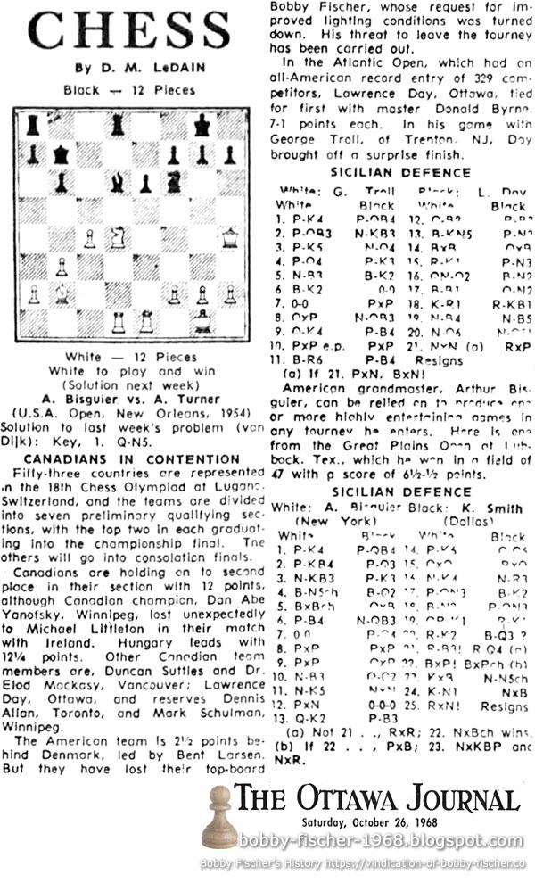 Bobby Fischer - Chess: 1968