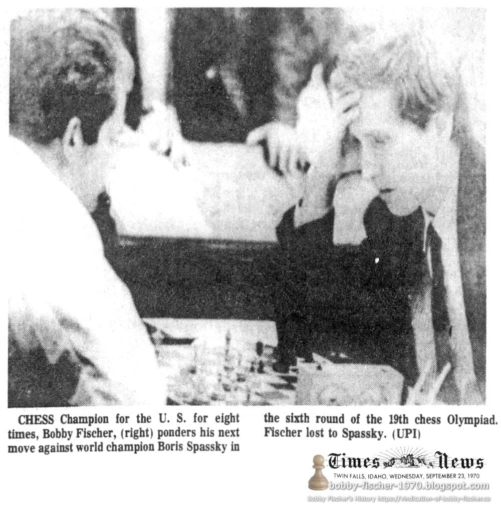 Bobby Fischer - Chess: 1970