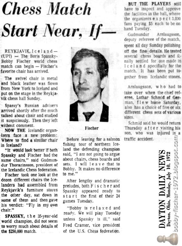 Bobby Fischer - Chess: 1972