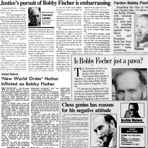 Unethical Persecution of Bobby Fischer following 1992 Match in Yugoslavia