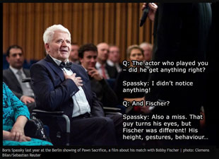 Boris Spassky's Review of Pawn Sacrifice