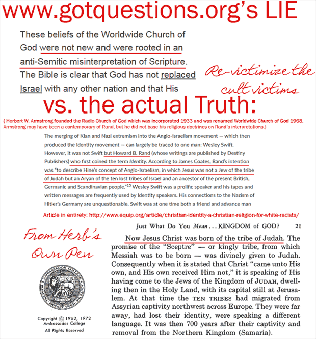 Lies about Herbert W. Armstrong cult being Antisemitic