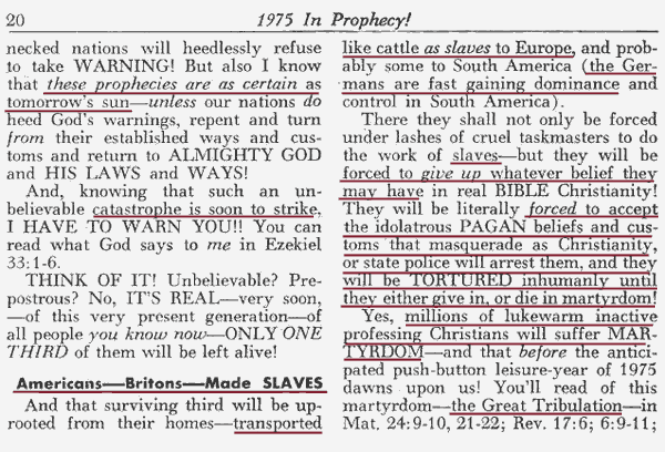 The madness of Herbert W. Armstrong and his obsession with Adolf Hitler.